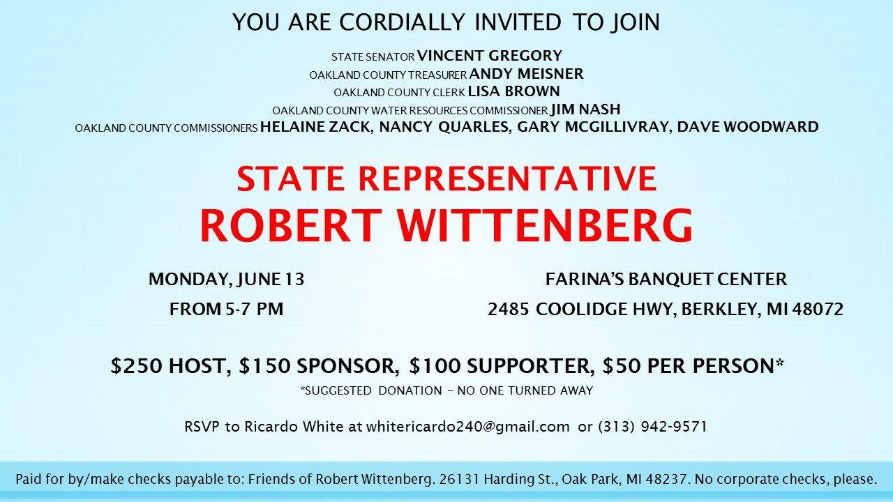 summer fundraiser robert wittenberg for state representative mi  2016 fundraiser invitation1 jpg